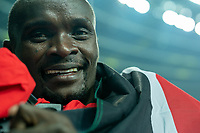 1st May 2021; Silesian Stadium, Chorzow, Poland; World Athletics Relays 2021. Day 1; Rotich of Kenya celebrates winning silver medal in the 2 x 2 x 400 meter relay mixed final