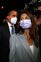 The mayor of Rome Virginia Raggi and the minister of foreign affairs Luigi Di Maio in a suburb in the east of Rome during the election campaign for the mayor of Rome. <br /> Rome (Italy), September 14th 2021<br /> Photo Samantha Zucchi Insidefoto
