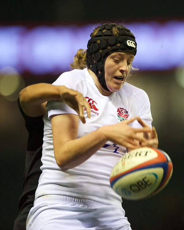 Emily Braund of England Women during the test match between England Women and the Black Ferns at Twickenham on Saturday 01 December 2012 (Photo by Rob Munro)