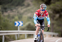 Bob Jungels (LUX/Deceuninck-QuickStep) training up the Coll de Rates<br /> during the january 2020 Team Deceuninck-QuickStep training camp in Calpe, Spain<br />  <br /> ©kramon