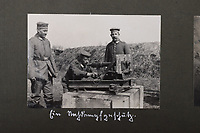 BNPS.co.uk (01202 558833)<br /> Pic: C&TAuctions/BNPS<br /> <br /> Pictured: A German gun crew pose for a photograph with their weapon. <br /> <br /> Fascinating previously unseen World War One photos showing the conflict from the German perspective have come to light 103 years on.<br /> <br /> Major Hans Rudloff, a distinguished artillery officer, took hundreds of images of some of the major Western Front battles.<br /> <br /> There are scenes of destruction on the Verdun and at Cambrai, as well as snapshots of captured British soldiers on the Somme in the early days of the German Spring Offensive in March 1918.