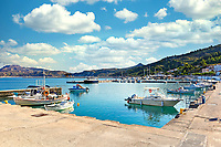 The port of Kymi in Evia, Greece