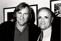 Montreal (Qc) CANADA - August 19985  File Photo- Gerard Depardieu (L) and Serge Losique (R)