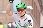 Ben King (USA) Team Dimension Data at sign on before Stage 3 of the 2019 Tour de France running 215km from Binche, Belgium to Epernay, France. 8th July 2019.<br /> Picture: Colin Flockton | Cyclefile<br /> All photos usage must carry mandatory copyright credit (© Cyclefile | Colin Flockton)