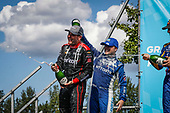 Will Power, Team Penske Chevrolet, podium, champagne, Alexander Rossi, Andretti Autosport Honda, Felix Rosenqvist, Chip Ganassi Racing Honda
