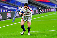 26th March 2021, Stade de France, Saint-Denis, France; Guinness 6-Nations international rugby, France versus Scotland;  The try is scored by Brice Dulin (Fra)