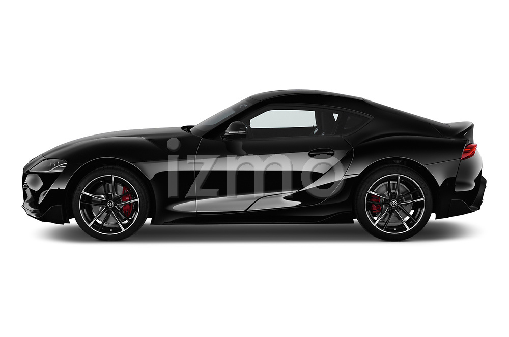 Car driver side profile view of a 2019 Toyota GR-Supra Sport 2 Door Coupe