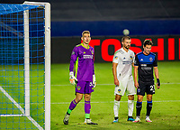 CARSON, CA - OCTOBER 14: Jonathan Klinsmann #33 GK of Los Angeles Galaxy during a game between San Jose Earthquakes and Los Angeles Galaxy at Dignity Heath Sports Park on October 14, 2020 in Carson, California.