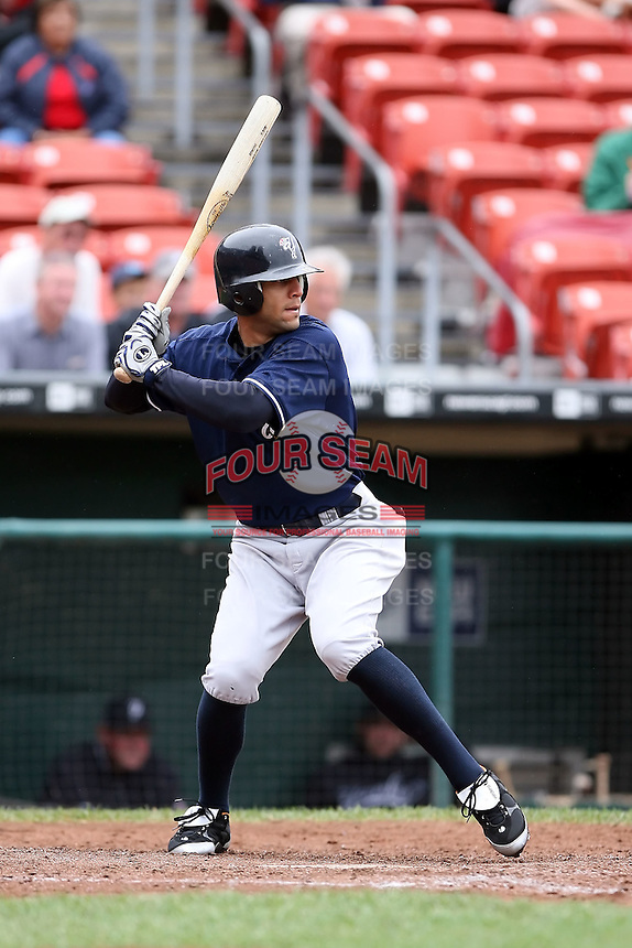 August 29 2008:  Justin Christian of the Scranton Wilkes-Barre Yankees, Class-AAA affiliate of the NY Yankees, during a game at Dunn Tire Park in Buffalo, NY.  Photo by:  Mike Janes/Four Seam Images