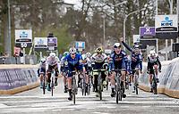 Jasper Philipsen (BEL/Alpecin-Fenix) wins the bunchsprint into Schoten ahead of Sam Bennett (IRA/Deceuninck - Quick Step) & Mark Cavendish (GBR/Deceuninck - Quick Step)<br /> <br /> 109th Scheldeprijs 2021 (ME/1.Pro)<br /> 1 day race from Terneuzen (NED) to Schoten (BEL): 194km<br /> <br /> ©kramon
