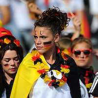 Fans of team Germany during the FIFA Women's World Cup at the FIFA Stadium in Berlin, Germany on June 26th, 2011.