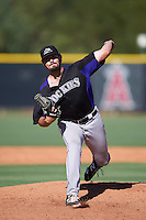 Colorado Rockies pitcher Ben Bowden (55) during an Instructional League game against the Los Angeles Angels of Anaheim on October 6, 2016 at the Tempe Diablo Stadium Complex in Tempe, Arizona.  (Mike Janes/Four Seam Images)