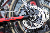 Disc brakes at use in the 115th Paris-Roubaix 2017 (1.UWT)<br /> <br /> One day race: Compiègne > Roubaix (257km)