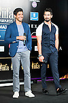 Farhan Akhtar and Shahid Kapoor during the presentation of the IIFA Awards in Madrid. June 23, 2016. (ALTERPHOTOS/BorjaB.Hojas)