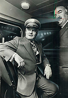 1978<br />  FILE PHOTO - ARCHIVES -<br /> <br /> Premier Bill Davis officially opened the new Spadina subway extension yesterday at the St. Clair West station. Then he put on a conductor's hat and tried out a new streetcar on show at the station. <br /> <br /> <br /> Bezant, Graham<br /> Picture, 1978<br /> <br /> 1978<br /> <br /> PHOTO : Graham Bezant - Toronto Star Archives - AQP