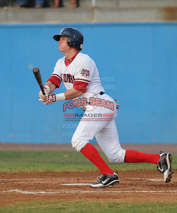 July 16, 2009: Outfielder Boomer Whiting (2) of the Potomac Nationals, Carolina League affiliate of the Washington Nationals, in a game against the Lynchburg Hillcats at G. Richard Pfitzner Stadium in Woodbridge, Va. Photo by: Tom Priddy/Four Seam Images