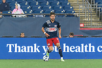 FOXBOROUGH, MA - AUGUST 5: Ryan Sierakowski #99 of New England Revolution II looks to pass during a game between North Carolina FC and New England Revolution II at Gillette Stadium on August 5, 2021 in Foxborough, Massachusetts.