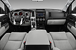 Stock photo of straight dashboard view of a 2014 Toyota Sequoia SR5 5 Door SUV