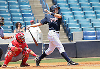 May 23, 2010: Infielder Bradley Suttle of the Tampa Yankees during a game at George M Steinbrenner Field in Tampa, FL. Tampa is the Florida State League High Class-A affiliate of the New York Yankees. Photo By Mark LoMoglio/Four Seam Images