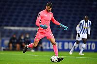 20th December 2020; Dragao Stadium, Porto, Portugal; Portuguese Championship 2020/2021, FC Porto versus Nacional; Daniel Guimarães of Nacional plays the ball out to his defense