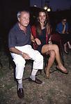 ACHILLE BONITO OLIVA E ROSSA ROSSELLINI<br /> PALAZZO DELLE ESPOSIZIONI ROMA 1993