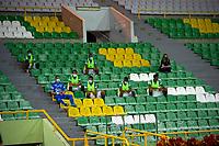 ARMENIA -COLOMBIA, 22-09-2020: Cúcuta Deportivo y Deportivo Cali en partido por la fecha 9 de la Liga BetPlay DIMAYOR I 2020 jugado en el estadio estadio Centenario de la ciudad de Armenia. / Cucuta Deportivo and Deportivo Cal in match for the date 9 BetPlay DIMAYOR League I 2020 played at Centenario stadium in Armenia city. Photo: VizzorImage/ Ricardo Vejarano / Contribuidor