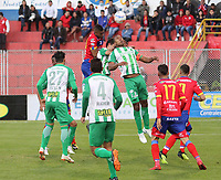 PASTO-COLOMBIA,09 -09-2018.Acción de juego entre los equipos Deportivo Pasto y Atlético Nacional  durante partido por la fecha 9 de la Liga Águila II 2018 jugado en el estadio Departamental Libertad de la ciudad de Pasto./ Action game between  Deportivo Pasto   and Atletico Nacional  during the match for the date 9 of the Aguila League II 2018 played at Departamental Libertad stadium in Pasto city. Photo: VizzorImage/ Leonardo Castro / Contribuidor