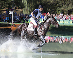 Constantin van Rijckevorsel and Our Vintage of Belgium compete in the cross country phase of the FEI  World Eventing Championship at the Alltech World Equestrian Games in Lexington, Kentucky.