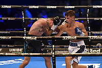 Charles Frankham (white shorts) defeats Dean Jones during a Boxing Show at the SSE Arena on 24th July 2021
