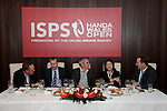 ISPS Handa Wales Open Announcement at the Celtic Manor Resort..Top Table: Richard Hills, Ryder Cup Director, The European Tour; Dylan Matthews, Chief Executive, The Celtic Manor Resort; Paul McGinley, 2001 tournament champion; Midori Miyazaki, Executive Director International Affairs, ISPS; Andrew White, Chief Executive, WSM Communications. .28.11.11.©Steve Pope
