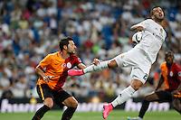 Real Madrid´s Jese (R) during Santiago Bernabeu Trophy match at Santiago Bernabeu stadium in Madrid, Spain. August 18, 2015. (ALTERPHOTOS/Victor Blanco)