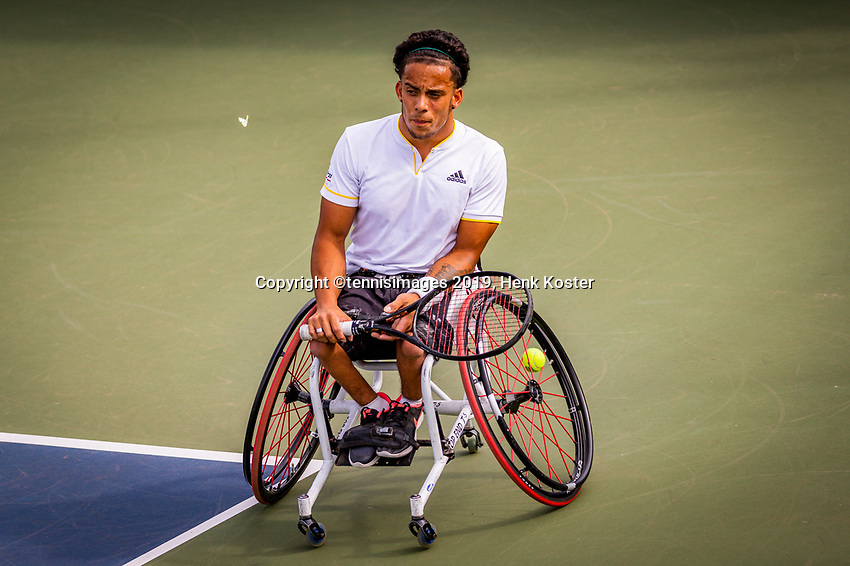 Amstelveen, Netherlands, 19 Augustus, 2020, National Tennis Center, NTC, NKR, National  Wheelchair Tennis Championships, Men's single: Carlos Anker (NED)<br /> Photo: Henk Koster/tennisimages.com