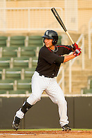 Drew Lee #11 of the Kannapolis Intimidators at bat against the Delmarva Shorebirds at Fieldcrest Cannon Stadium on May 23, 2011 in Kannapolis, North Carolina.   Photo by Brian Westerholt / Four Seam Images
