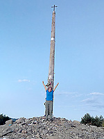 Photo submitted <br /> The La Cruz de Ferro, or Iron Cross, is at one of highest points along the Carmino de Santiago.  Travelers leave a token representing a burden or problem behind.