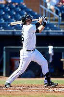 Peoria Javelinas catcher Mike Zunino #36, of the Seattle Mariners organization, during an Arizona Fall League game against the Salt River Rafters at Peoria Stadium on October 17, 2012 in Peoria, Arizona.  Salt River defeated Peoria 12-9.  (Mike Janes/Four Seam Images via AP Images)