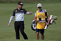 15th July 2021; Royal St Georges Golf Club, Sandwich, Kent, England; The Open Championship, PGA Tour, European Tour Golf ,First Round ; Louis Oosthuizen (RSA) with his caddie on the second hole