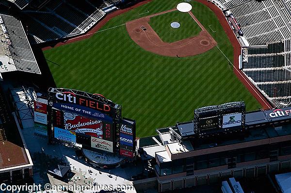 aerial photograph Citi Field stadium baseball park Queens, New York City