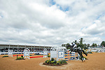 October 17, 2021: Candace Bell (USA), aboard Fernhill Philm Star, competes during the Stadium Jumping Final at the 3* level during the Maryland Five-Star at the Fair Hill Special Event Zone in Fair Hill, Maryland on October 17, 2021. Jon Durr/Eclipse Sportswire/CSM