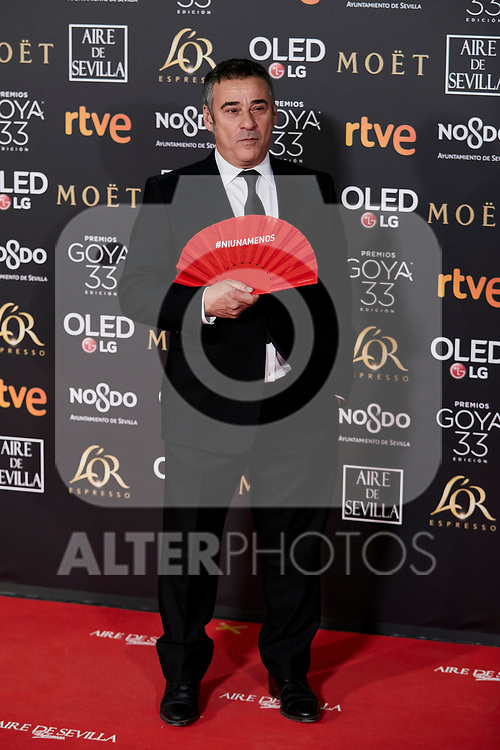 Eduard Fernandez attends to 33rd Goya Awards at Fibes - Conference and Exhibition  in Seville, Spain. February 02, 2019. (ALTERPHOTOS/A. Perez Meca)