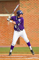 Josh Spano (21) of the High Point Panthers at bat against the Charlotte 49ers at Willard Stadium on February 20, 2013 in High Point, North Carolina.  The 49ers defeated the Panthers 12-3.  (Brian Westerholt/Four Seam Images)