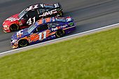 #11: Denny Hamlin, Joe Gibbs Racing, Toyota Camry FedEx Freight and #41: Kurt Busch, Stewart-Haas Racing, Ford Fusion Haas Automation