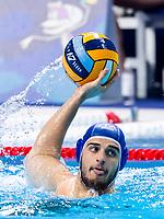 12 ITA DOLCE Vincenzo Italy<br />  <br /> Budapest 16/01/2020 Duna Arena <br /> France (white caps) Vs. Italy (blue caps) Men<br /> XXXIV LEN European Water Polo Championships 2020<br /> Photo  ©Giorgio Scala / Deepbluemedia / Insidefoto
