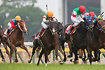 TOKYO,JAPAN-MAY 29:Cryptogram #15 ,ridden by Yuichi Fukunaga,wins the Meguro Kinen at Tokyo Racecourse on May 29,2016 in Fuchu,Tokyo,Japan (Photo by Kaz Ishida/Eclipse Sportswire/Getty Images)