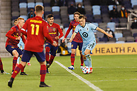 SAINT PAUL, MN - APRIL 24: Robin Lod #17 of Minnesota United FC with the ball during a game between Real Salt Lake and Minnesota United FC at Allianz Field on April 24, 2021 in Saint Paul, Minnesota.