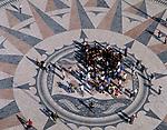 PRT, Portugal, Belém: Windrose am Fuße des Denkmals Padrao dos Descobrimentos | PRT, Portugal, Belém: compass card at monument Padrao dos Descobrimentos