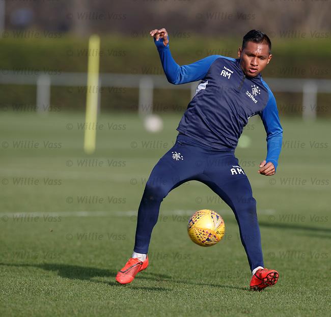 26.02.2019 Rangers training: Alfredo Morelos