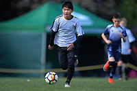 Ian Shin (Mount Maunganui Intermediate). Boys' football. 2019 AIMS games at Gordon Spratt Park in Papamoa, New Zealand on Thursday, 12 September 2019. Photo: Dave Lintott / lintottphoto.co.nz