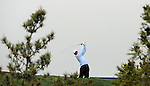JEJU, SOUTH KOREA - APRIL 23:  Peter Whiteford of Scotland tees off on the 18th hole during the fog-delayed Round One of the Ballantine's Championship at Pinx Golf Club on April 23, 2010 in Jeju island, South Korea.  Photo by Victor Fraile / The Power of Sport Images