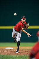 Erie SeaWolves relief pitcher Mark Ecker (26) delivers a pitch during a game against the Binghamton Rumble Ponies on May 14, 2018 at NYSEG Stadium in Binghamton, New York.  Binghamton defeated Erie 6-5.  (Mike Janes/Four Seam Images)