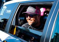 Oct 11, 2019; Concord, NC, USA; NHRA funny car driver Shawn Langdon during qualifying for the Carolina Nationals at zMax Dragway. Mandatory Credit: Mark J. Rebilas-USA TODAY Sports